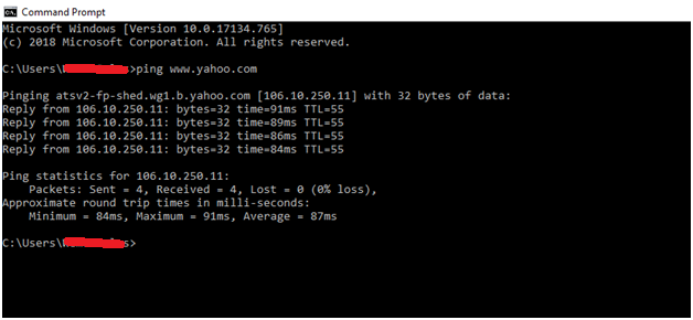 Find Yahoo IP Address